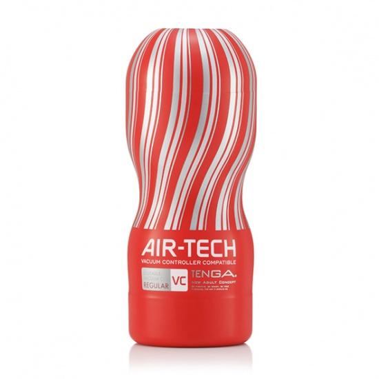 Pánský masturbátor Tenga Air-Tech Regular Vacuum Controlled obal červený/ čirý